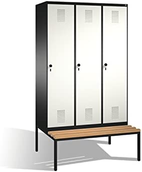 Vestuario taquilla Evolo con asiento Banco, 3 columnas, H2090 X B1200 X T500/815 mm: Amazon.es: Bricolaje y herramientas