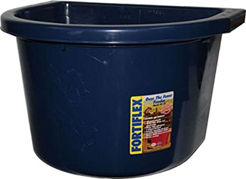 FORTEX INDUSTRIES 088526 Over The Fence Feeder Blue, 20 Quart
