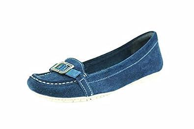 Enamel Etty Cuir Rockport Mocassins Bleu Chaussures Femme Suede Moc d5YqwYR