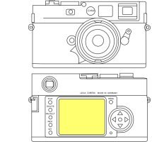 Martin Fields Overlay Plus Screen Protector (Leica M9/M8)
