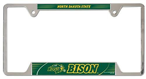 Wincraft North Dakota State NDSU Bison License Plate Frame, Metal, 2 Mount Holes ()
