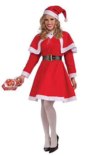 (Forum Novelties Women's Miss Santa Costume, Red/White,)