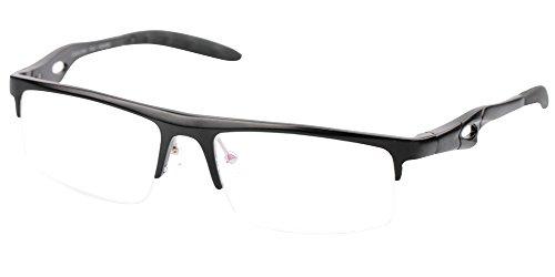 f8dea24226 SOOLALA Mens High End Al-Mg Quality Semi-rimless Reading Glasses ...