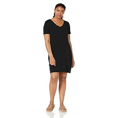 Brand - Daily Ritual Women's Jersey Short-Sleeve V-Neck T-Shirt Dress: Clothing