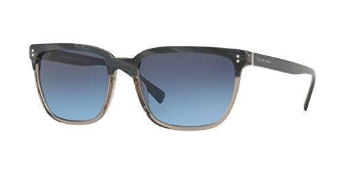 Burberry  Men's 0BE4255 Top Striped Blue On Grey/Blue Gradient One - Blue Sunglasses Burberry