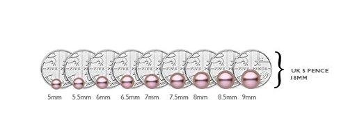 Kimura Pearls Perles d'eau douce Couleur naturelle en or blanc 9carats