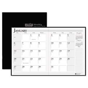 Doolittle 26002 Recycled Ruled Planner with Stitched Leatherette Cover, 8.5x11, Black, 2017-2019