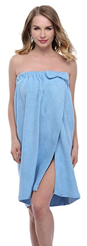 ExpressBuyNow Spa Bath Towel Wrap For Ladies,9 Colors,Lightblue,One size ()