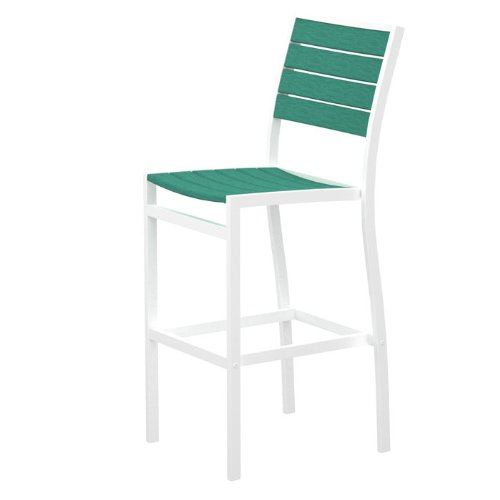 (Euro Bar Side Chair Finish: Textured White, Seat and Back Finish: Sunset Red)