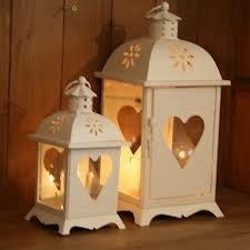 shabby chic cream heart ornate lantern 24cm amazon co uk kitchen rh amazon co uk shabby chic lanterns for sale shabby chic lanterne