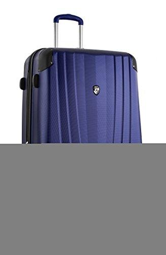 . 50% SALE ... PREMIUM DESIGNER Hartschalen Koffer - Heys Core Velocity Blau - Trolley mit 4 Rollen Gross Bla