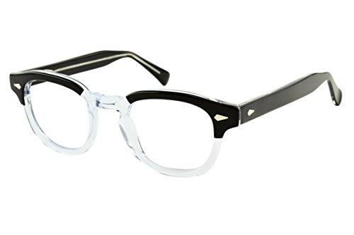 Computer Eyeglasses with Blue Light Blocking Lens Vintage Unisex Style VLV46 - Moscot