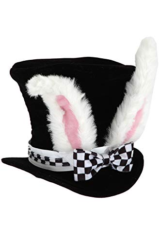 elope Kids White Rabbit Topper Plush Hat ()