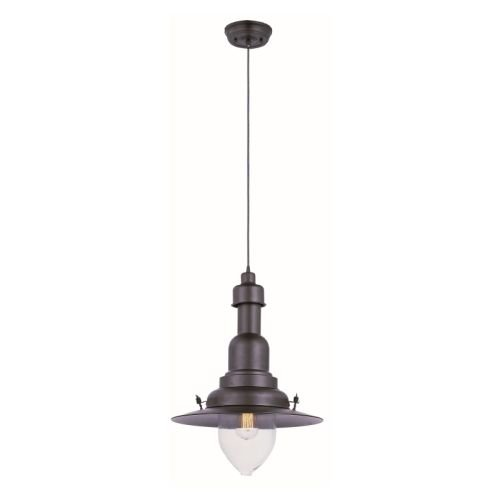 Maxim 25113CLBZ Hi-Bay 1-Light Pendant, Bronze Finish, Clear Glass, MB Incandescent Bulb , 100W Max., Damp Safety Rating, 2700K Color Temp, Standard Dimmable, Glass Shade Material, 3450 Rated Lumens by Maxim Lighting (Image #2)