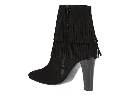 Saint Laurent Lily Black Suede Heels Ankle Boots - Model Number: 441319 DPU00 1000 Black kUIsW