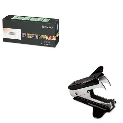 KITLEXC734A4CGUNV00700 - Value Kit - Lexmark C734A4CG Toner (LEXC734A4CG) and Universal Jaw Style Staple Remover (UNV00700)