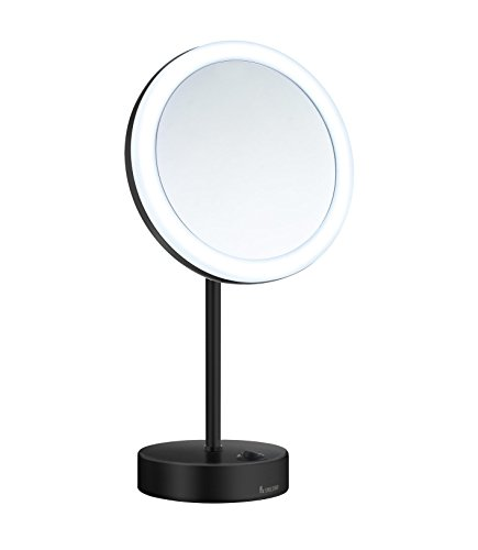 Smedbo FK484EW Led Dual Lighted 5X Magnification Make-Up Mirror (Warm/Cool Lighted), Polished -