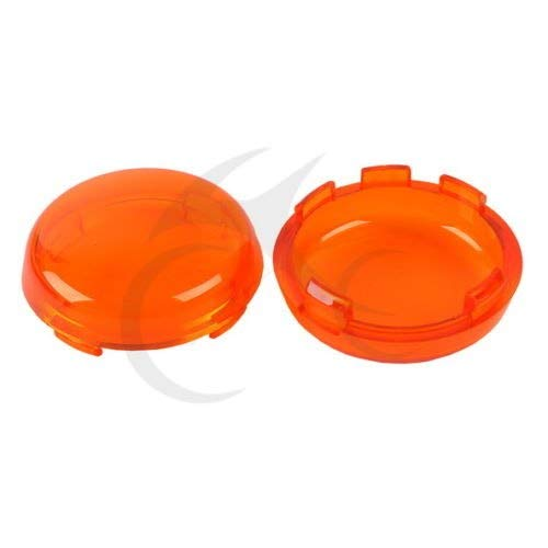Value-Home-Tools - Motorcycle Turn Signal Lens Cover For Harley Davidson XL883 XL1200 Sportster 1992-up Softail