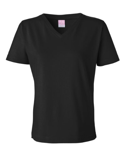 LAT Sportswear womens Combed Ringspun Jersey V-Neck (Cotton V-neck Rugby)