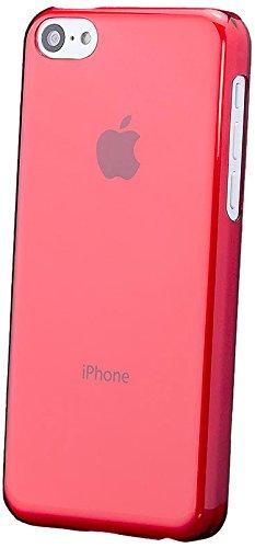 Apple iPhone 5C   iCues Ultra Slim Rouge   [Protecteur d'écran, y compris] la lumière supplémentaire très mince protecteur de feuille transparente Temps clair de protection Housse de protection Couver