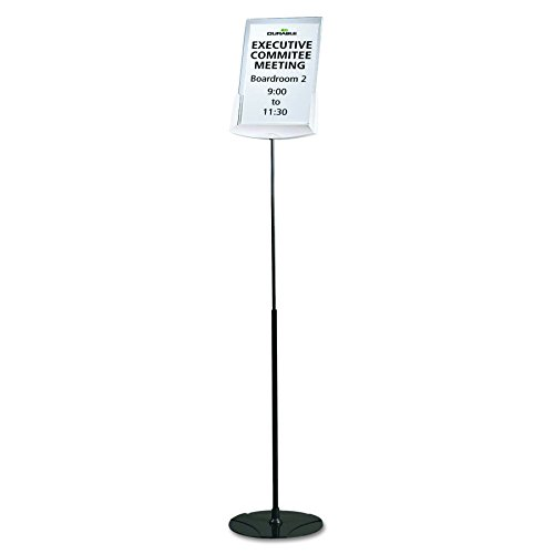 a Infobase Sign Stand, Acrylic/Metal, 40