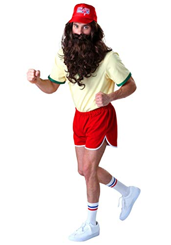 Forrest Gump Running Costume Set with Wig/Beard X-Large