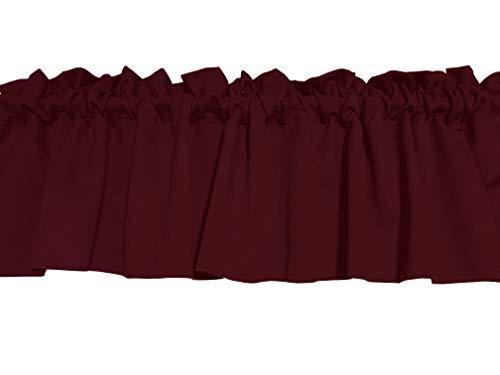 Zen Creative Designs Solid Burgandy Poplin Window Valance 58 Inch Wide (28″ Tall) Review