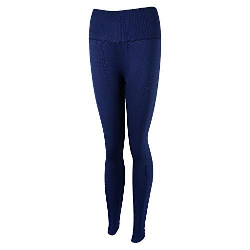 Homyl Pantalones de Mujer Deportes Entrenamiento Gimnasio Atlético Fitness Yoga Ropa Disfraz Tropical Ropa Cómoda azul marino