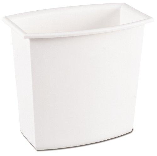 Sterilite 10220012 2 Gallon/7.6 Liter Rectangular Vanity Wastebasket, Black/White, 12-Pack