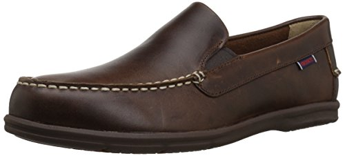 (Sebago Men's Litesides Slip On Penny Loafer Burnt Ivory Leather/Gum Outsole 11 D US)