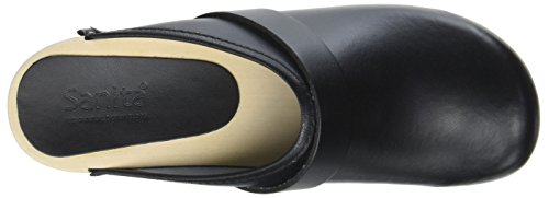 Rita black Leather 0 Pointure Sabots Moyen Sanita 42 largeur open 5F6nxvxRq