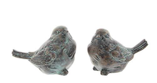 - Napco Set of 2 Resin Patina Bird Figurines, 4