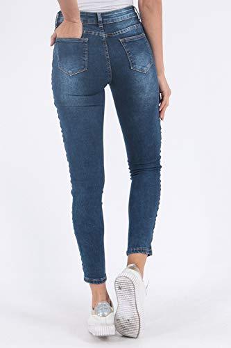 Blu 2 D2511 Stretch Pantaloni Simply Skinny Donne Banda Chic Jeans RqTq6BwP