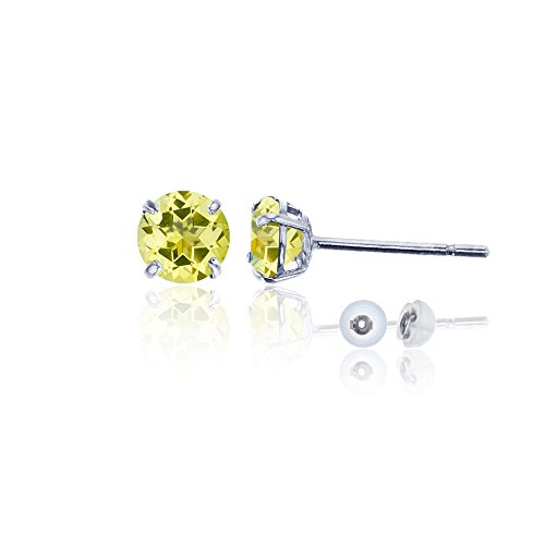 ound Citrine Stud Earring ()