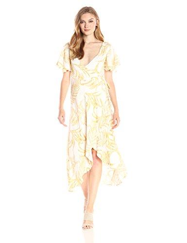 Paradise Falls Waterfall (MINKPINK Women's Paradise Waterfall Printed Wrap Dress, Multi, X-Small)