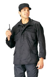 (M-65 FIELD JACKET w/LINER - BLACK, Size Large)