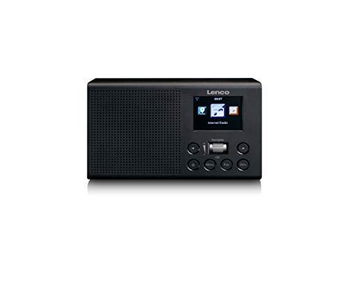 Lenco DIR-60 – draagbare internetradio – WLAN-radio met DAB+ en FM – 2,4″ TFT LCD-scherm – 2 Watt RMS – equalizer – weersvoorspelling – AUX-in- en uitgang – zwart