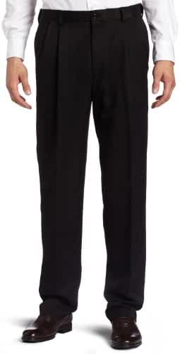 Haggar Men's Cool 18 Hidden Expandable-Waist Pleat-Front Pant