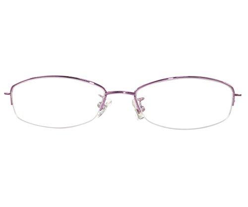 600ca66f57b6 Amazon.com  Ebe Women Reader Cheater Glasses Half Rim Anti Reflective Violet  +8.50  Health   Personal Care