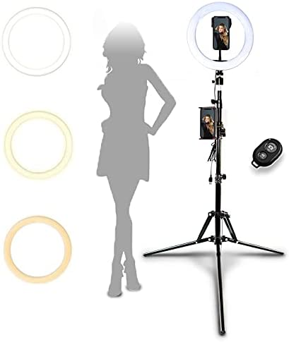 """Ring Light with Stand and Phone Holder,Selfie Ring Light iPhone