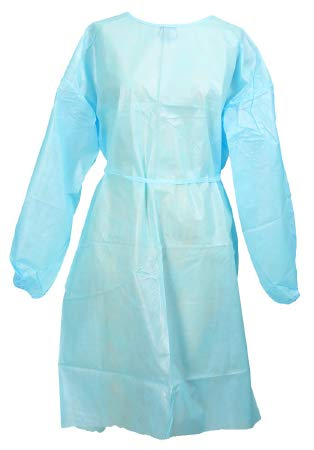 (53811100 Protective Procedure Gown McKesson One Size Fits Most Unisex NonSterile Yellow)