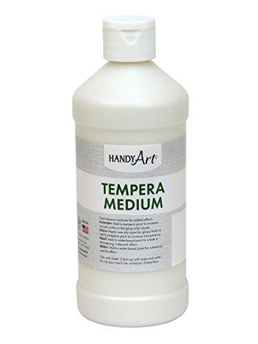 Medium Egg Tempera - Handy Art Tempera 16 ounce, Extender Paint Medium