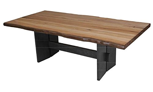 Scott Living Marquette Collection Natural Honey and Charcoal Finish Dining Table