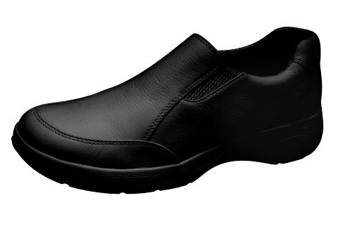 Cherokee Leather Twin Gore Step In Footwear | Black Size 6H