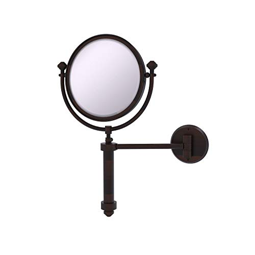 Allied Brass SB-4/4X Southbeach Collection Wall Mounted 8 Inch Diameter with 4X Magnification Make-Up Mirror, Venetian…