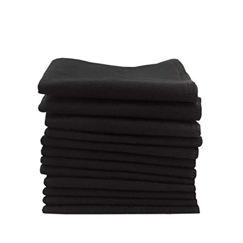 ImseVimse Organic Cotton Washable Reusable Cloth Baby Wipes 12 Pieces (Black)
