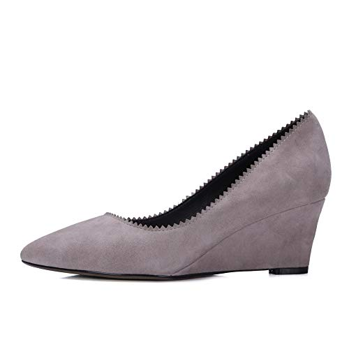 Mujer Para Uretano Viaje Zapatos Mms06586 Sólido Gris 1to9 De Plisados Aq8fxwv