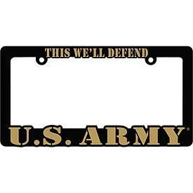 6 X 12 United State Army Proud to Serve Auto License Premium Quality Plate Frame USA