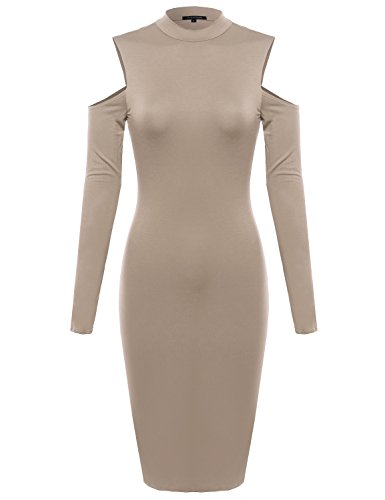 Womens Cold Shoulder Jersey Dress