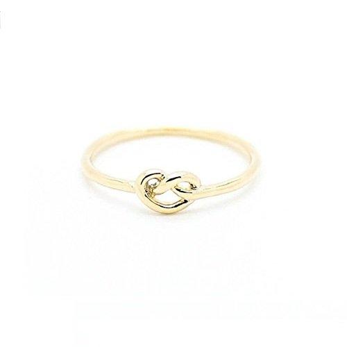 Simple Knot Heart Rings, Knuckle Rings